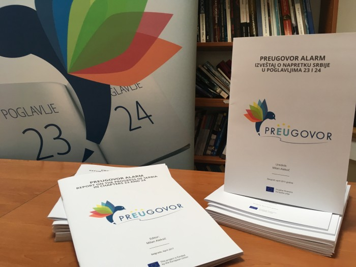 Coalition prEUgovor Report on Progress of Serbia in Chapters 23 and 24 - October 2017